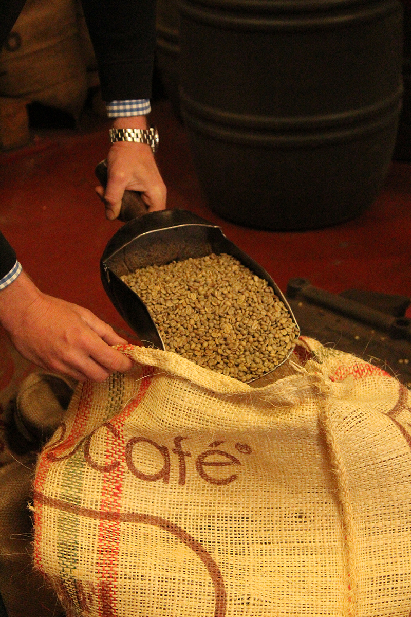 Image of handeling coffee beans